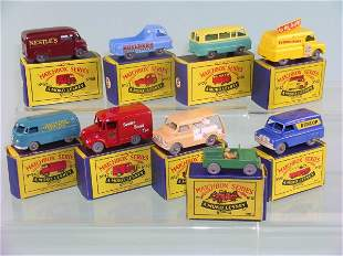 A group of nine boxed Moko Lesney miniatures to in