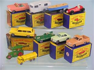 A group of ten Moko Lesney vehicles to include two