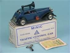 28B: A boxed pre war Minic traffic control car complete