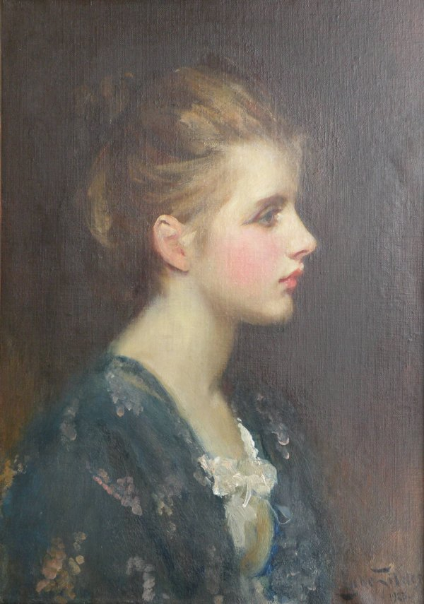 362C: Sir Luke Fildes, RA (1843-1927) 'Nina', oil on ca