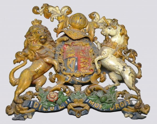 18D: A cast iron Royal Warrant, titled Verso 'Granted t