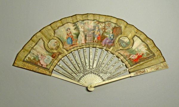 19D: A commemorative fan, late 18th century, depicting