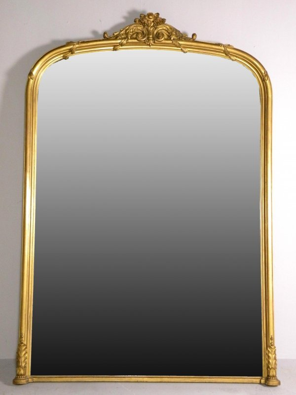 21D: A Victorian giltwood and gesso over-mantel mirror,