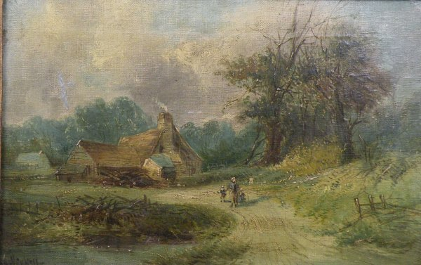 14B: A. H. Vickers, 'Figures on a woodland path with co