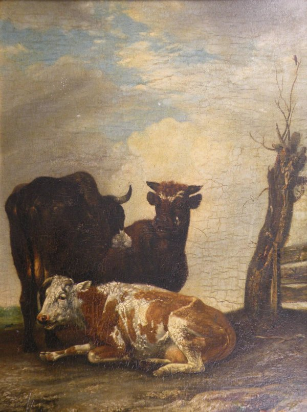 22B: English School, early 19th century 'Cattle beside