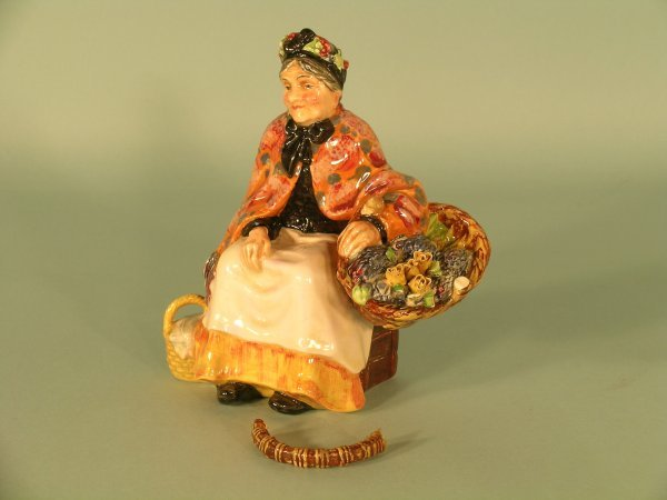 1C: A Royal Doulton figure of The Old Lavender Seller
