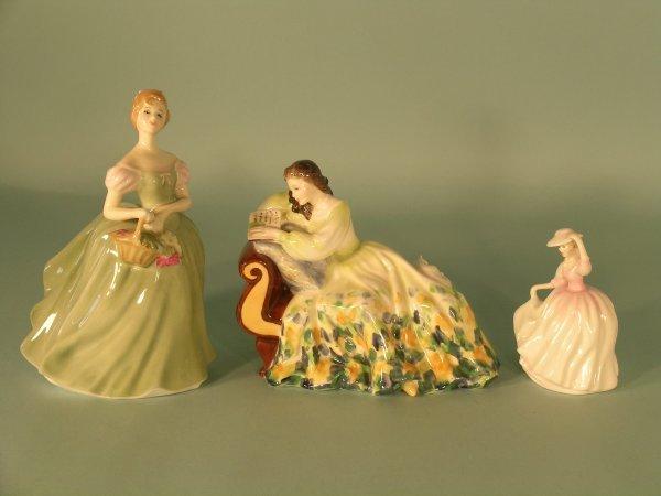 8C: Three Royal Doulton figures to include; Clarissa HN