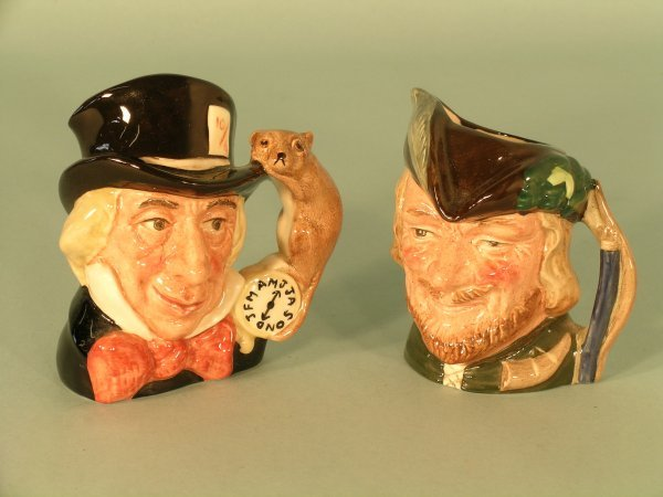 16C: Two Royal Doulton character jugs to include a smal