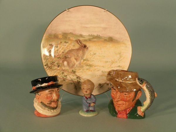 18C: Two small Royal Doulton character jugs to include;