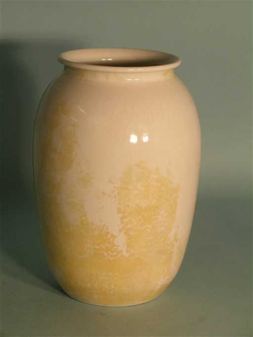 126c A Ruskin Crystalline Vase Circa 1913 The Ovoid S