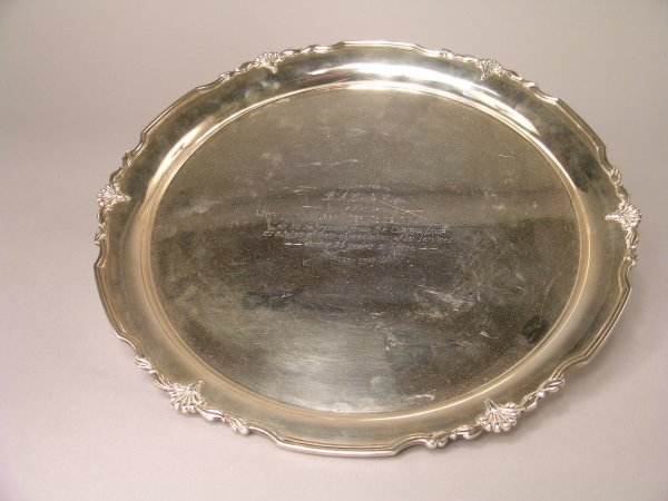 22B: A silver salver, Sheffield 1961, maker's mark 'CB