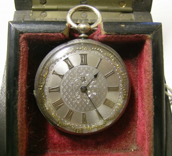266B: A Victorian silver cased lady's fob watch