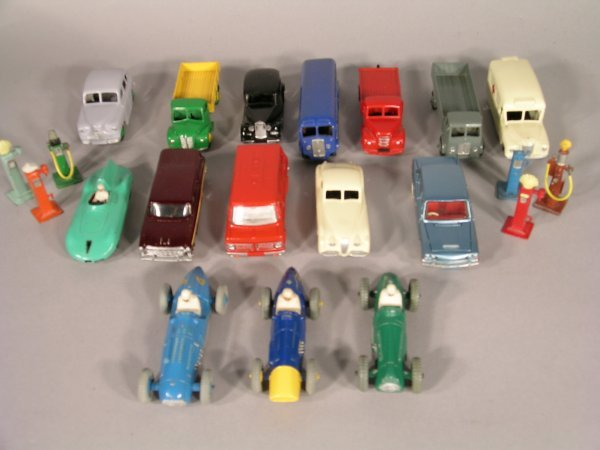 13D: A selection of unboxed Dinky vehicles, mostly re-p