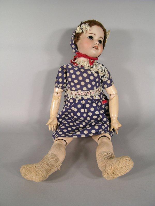 123D: An SFBJ Paris 60 bisque head doll, early 20th cen