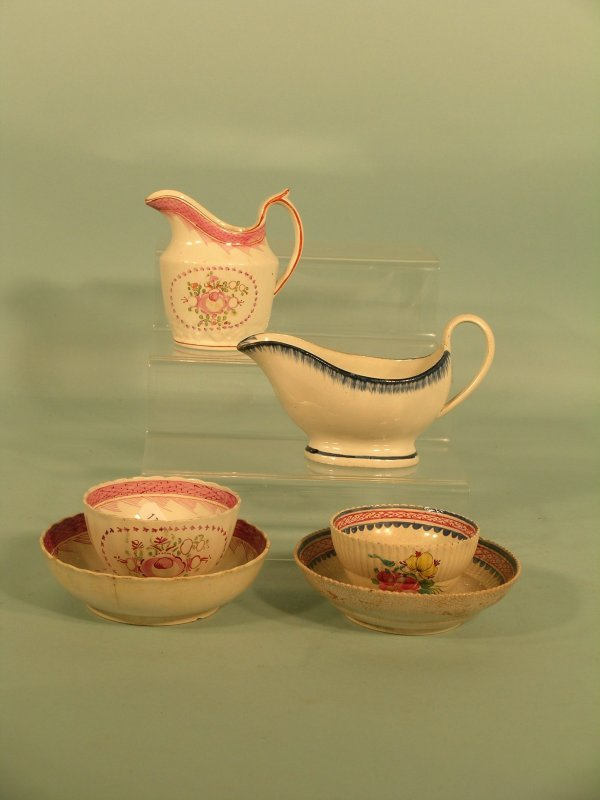 10: A selection of 18th century tea wares
