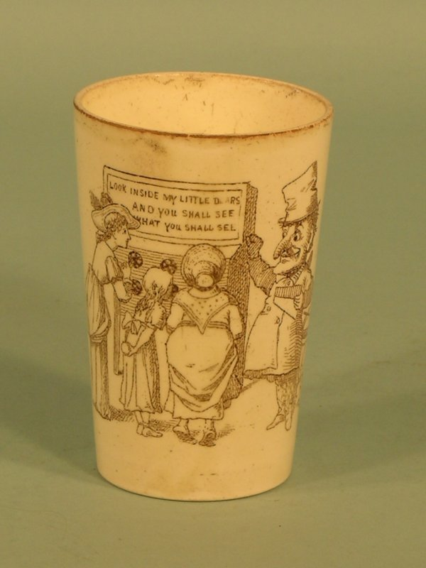 14: A Wedgwood cream ware beaker, 19th century