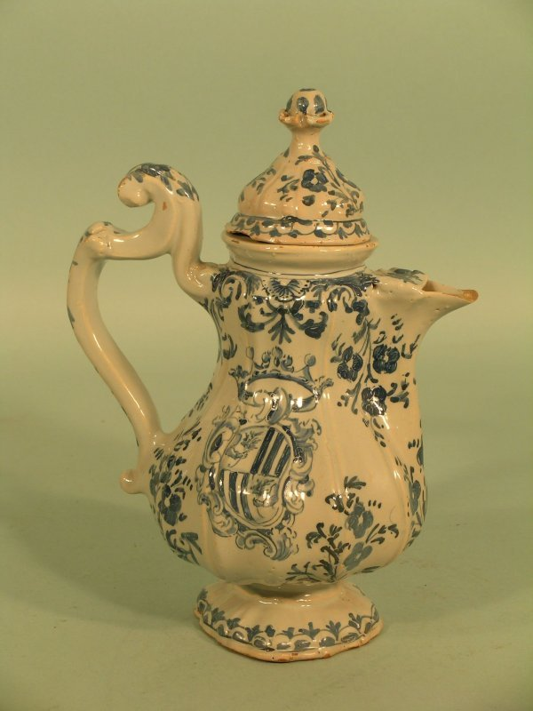 16: An Italian faience jug and cover late 18th/early 19