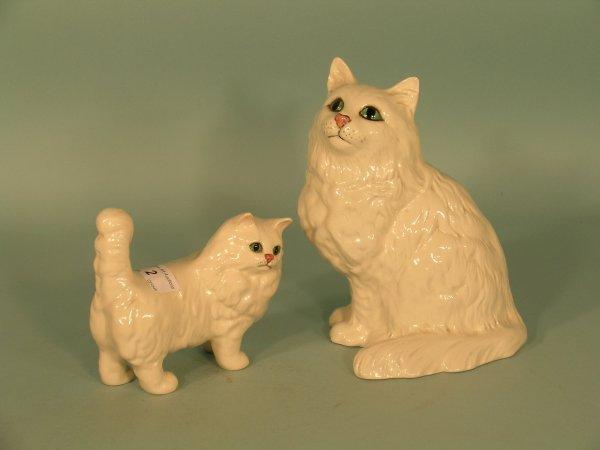 2B: Two Beswick Persian cats