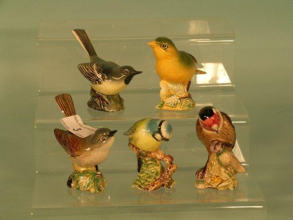 3B: Five Beswick birds to include grey wagtail