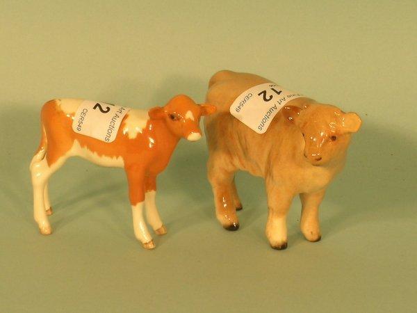12B: Two Beswick calves