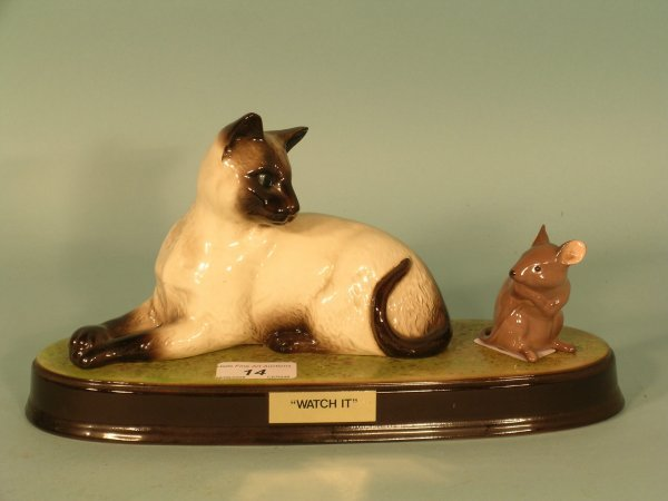 14B: A Beswick model of a Cat and Mouse