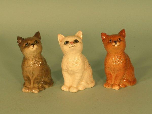 16B: Three Beswick Persian kittens