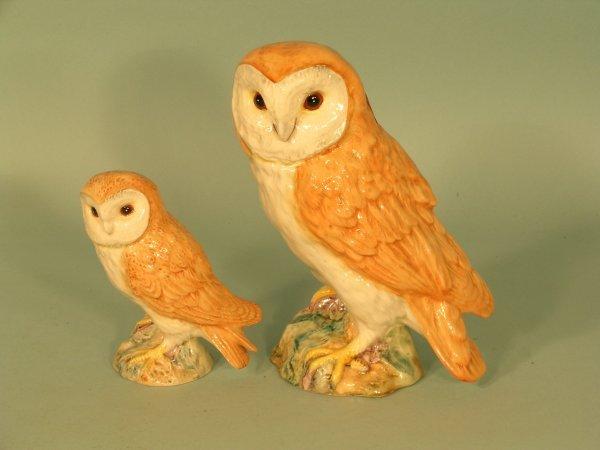 18B: 2 Beswick barn owls