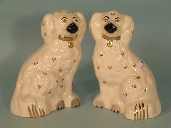 19B: A pair of Beswick Old English dogs, model No.13785