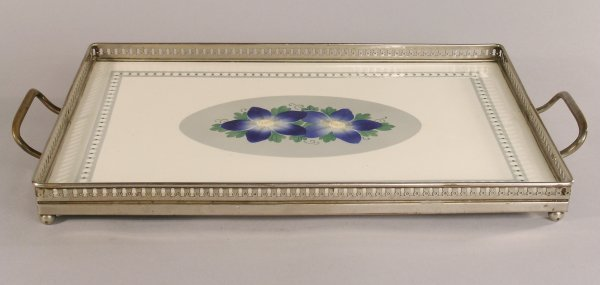 13C: A two handled WMF tea tray with ceramic tile