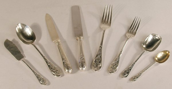 16C: A part canteen of silver cutlery, 'G & S Co Ltd