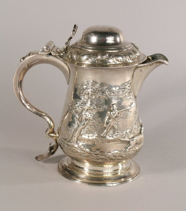 19C: A George III silver tankard converted to a jug