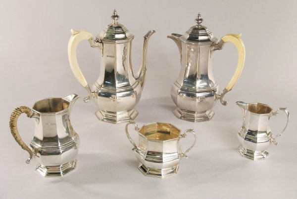 24C: A five piece silver art deco coffee service, maker