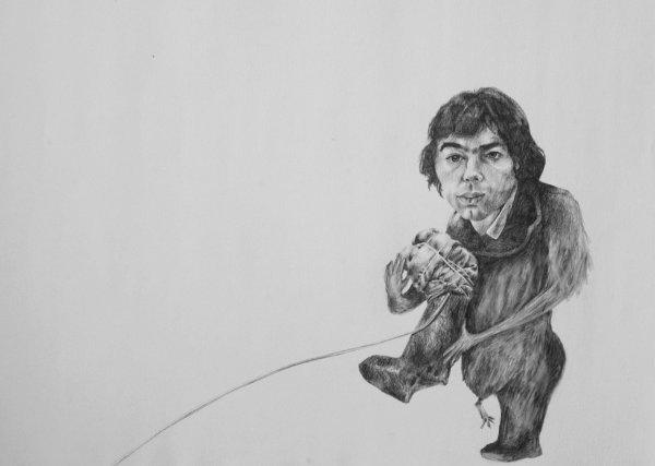 4D: Daniel Bell,  'The Media', pencil on paper, 55cm x