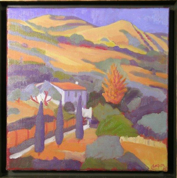 8D: Sue Campion 'Robert's House', oil on linen, 25.5cm