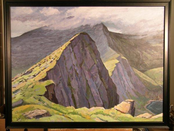 16D: Martin Eldridge 'Snowdon in the Mist', oil on canv