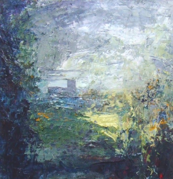 18D: Beth Fletcher 'Abbey Study 1', oil on board, 52.5c