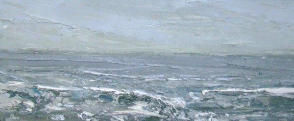 19D: Beth Fletcher 'Abermawr, Soft Light', oil on board