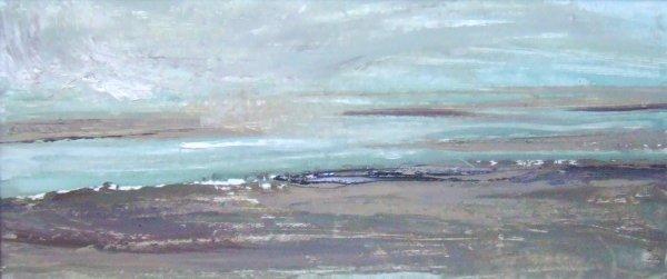 20D: Beth Fletcher 'Mawddach Estuary, Snow Flurry', oil