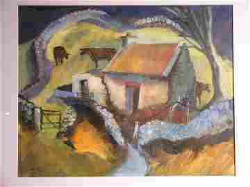 52D: Judith Moy 'Cattle Shed, County Kerry', acrylic, 7