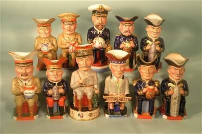83E: Eleven Wilkinson Toby jugs of Allied war leaders 1