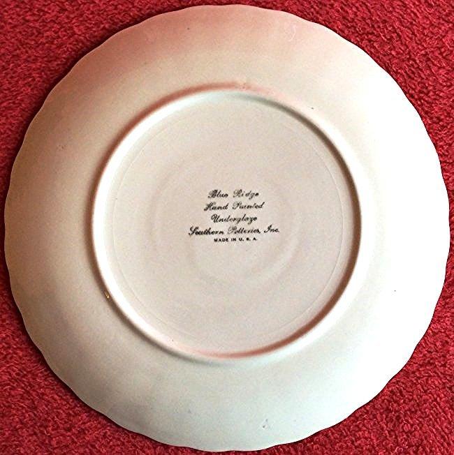 Two Blue Ridge Underglaze Plates by Southern Potteries - 3