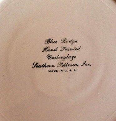 Two Blue Ridge Underglaze Plates by Southern Potteries - 4