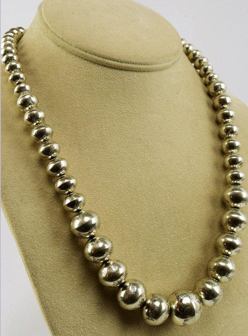 Native American Sterling Silver Navajo Pearls Necklace - 2