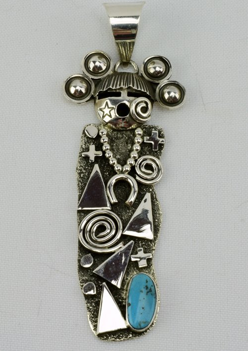 Navajo Sterling Silver Pendant by Alex Sanchez