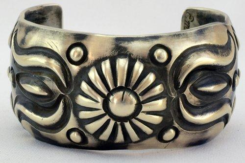 Native American Repousse Cuff Bracelet - Emerson Bill