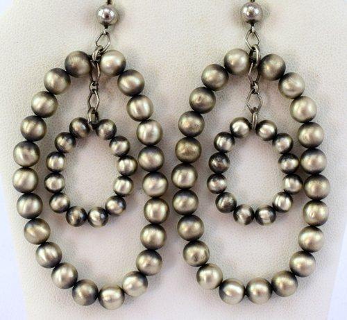 Native American Sterling Silver Navajo Pearl Earrings