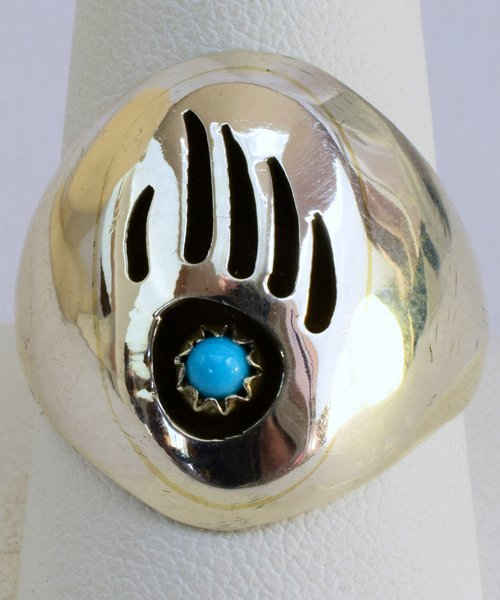 Native American Sterling Silver Bear Paw Ring