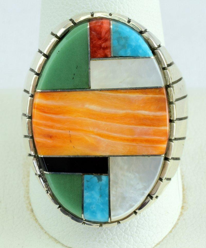 Native American Sterling Multi-Stone Men's Ring