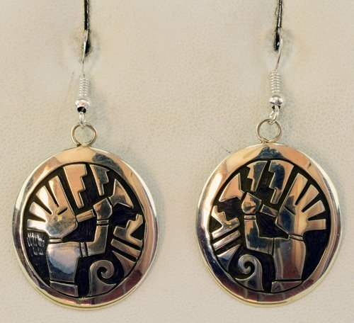 Hopi Sterling Silver Kachina Earrings