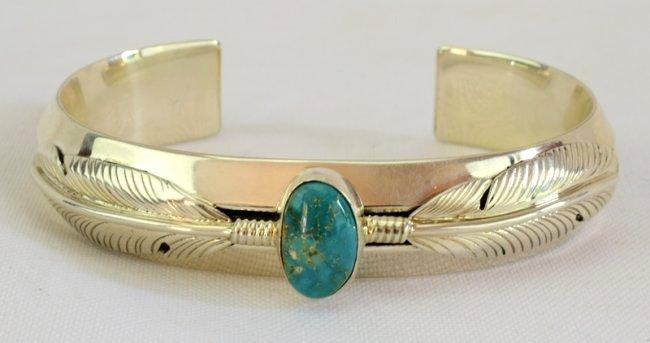 Native American Sterling Ladies Cuff Bracelet